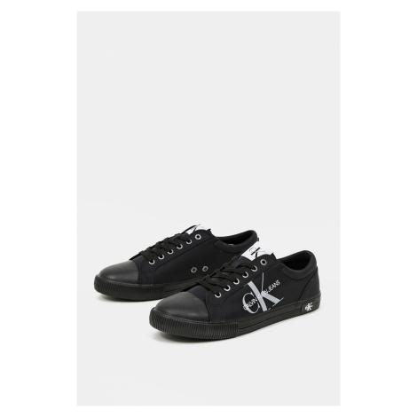 Calvin Klein čierne pánske tenisky Vulcanized Sneaker Laceup