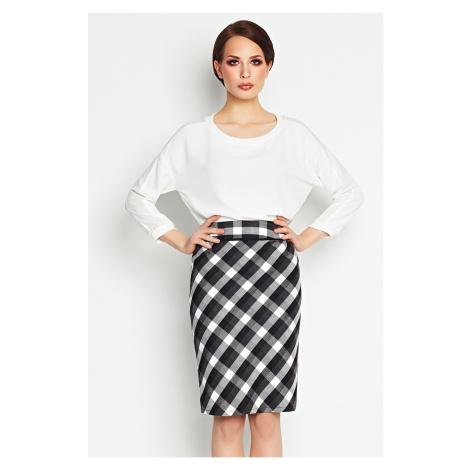 Čierno-biela sukňa A107 Awama