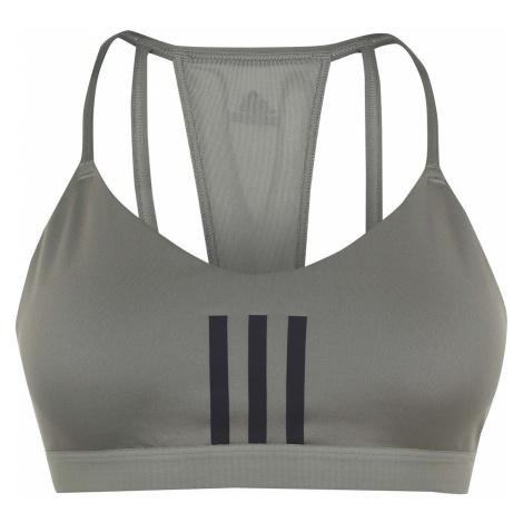Adidas Womens All Me 3-Stripes Mesh Sports Bra