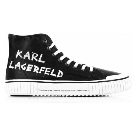 Členková Obuv Karl Lagerfeld Kampus Ii Brush Logo Hi Lthr