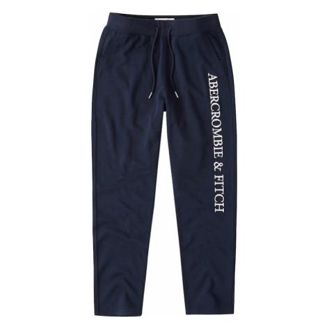 Abercrombie & Fitch Nohavice  námornícka modrá / biela