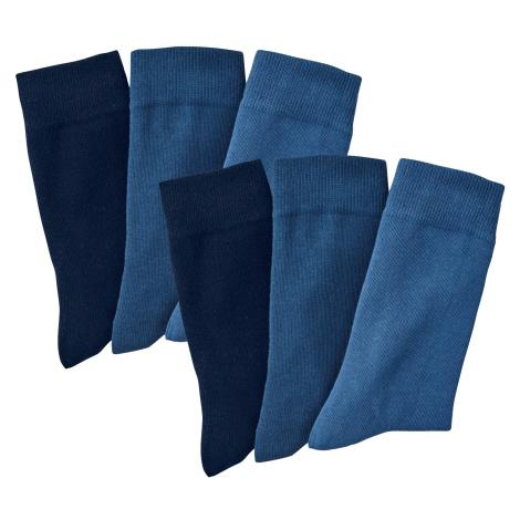 Blancheporte Ponožky, súprava 6 párov modrá