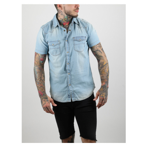 Košeľa Alcott SHORT SLEEVE DENIM SHIRT Modrá