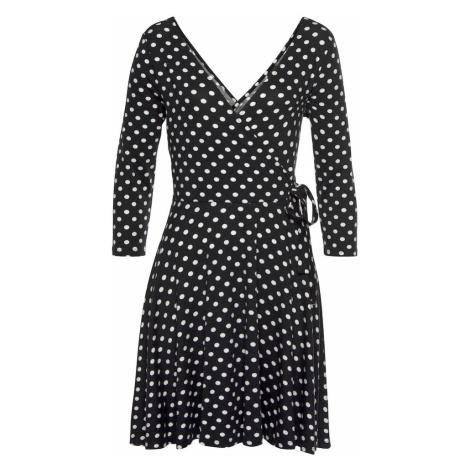 LASCANA Letné šaty  čierna / biela
