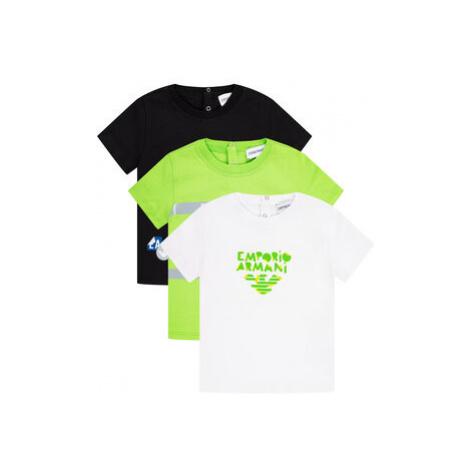 Emporio Armani Súprava 3 tričiek 3HHD01 4J09Z 0582 Farebná Regular Fit