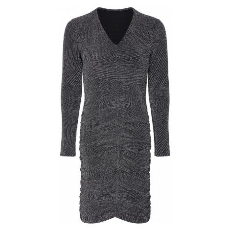 Mela London Šaty 'FRONT RUCHED DRESS'  čierna