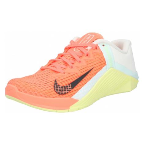 NIKE Športová obuv 'Metcon'  sivá / koralová / žltá / pastelovo modrá