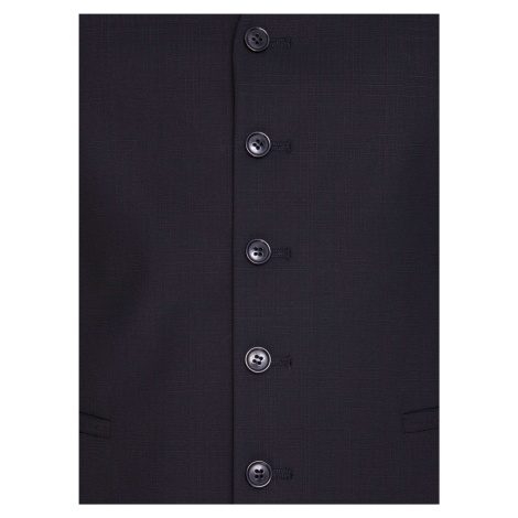 Pánska jednoradová vesta Pietro Filipi čierna
