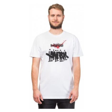 Horsefeathers DOGS T-SHIRT biela - Pánske tričko