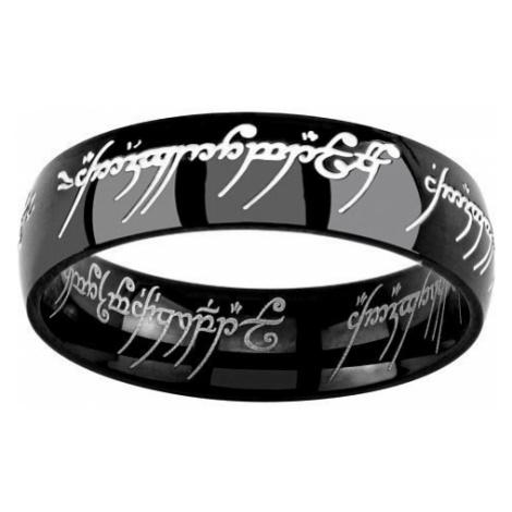 Silvego Čierny oceľový prsteň moci z filmu Pán prsteňov RRC5623 mm