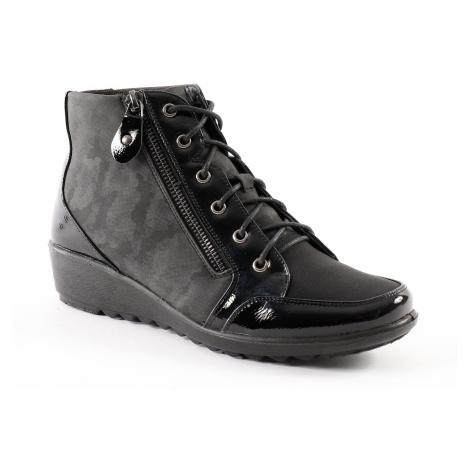 Blancheporte Pohodlná obuv na kline, z 2 materiálov a so zipsom čierna