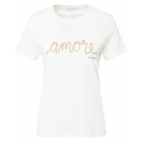 CINQUE Tričko 'CIAMY'  biela / zlatá