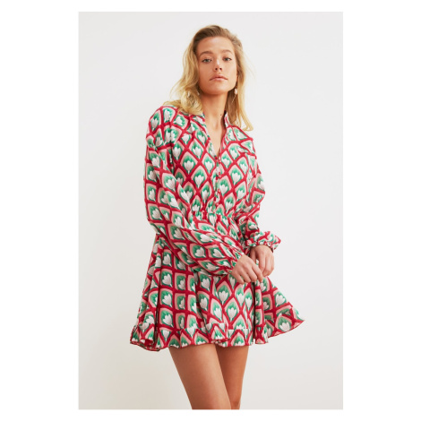 Dámske šaty Trendyol Colorful Retro