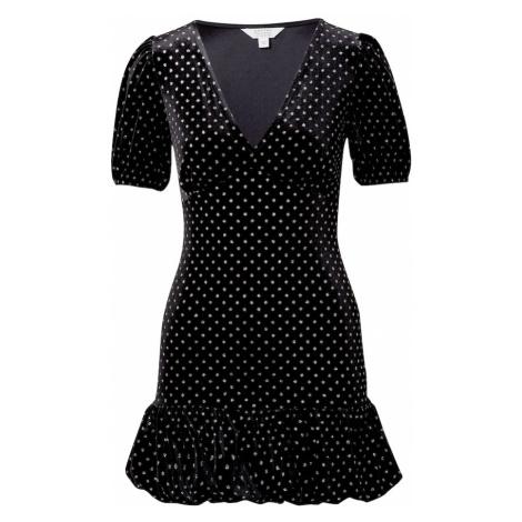 Miss Selfridge Šaty  čierna / strieborná