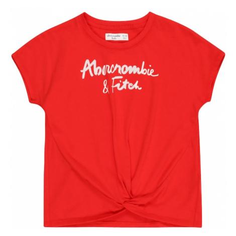Abercrombie & Fitch Tričko 'SHINE TWIST'  červená / biela