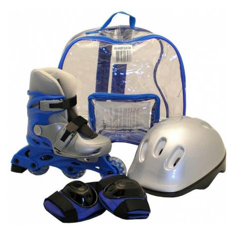 Kolečkové brusle sada brusle+helma+chrániče, modré Brusle Rulyt