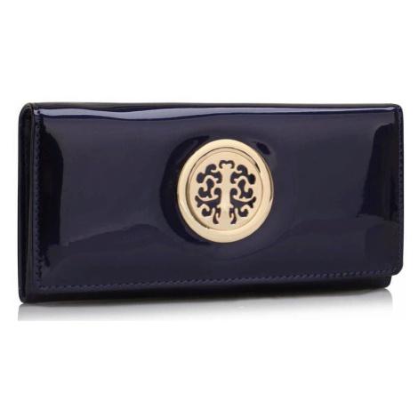 Dámska lakovaná peňaženka tmavomodrá