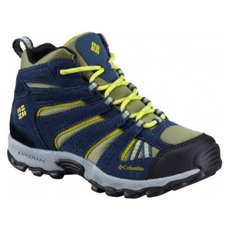 Columbia YOUTH NORTH PLAINS MID WP žltá - Detská outdoorová obuv