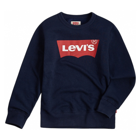 LEVI'S Mikina 'Batwing Crewneck'  biela / modrá / červená Levi´s