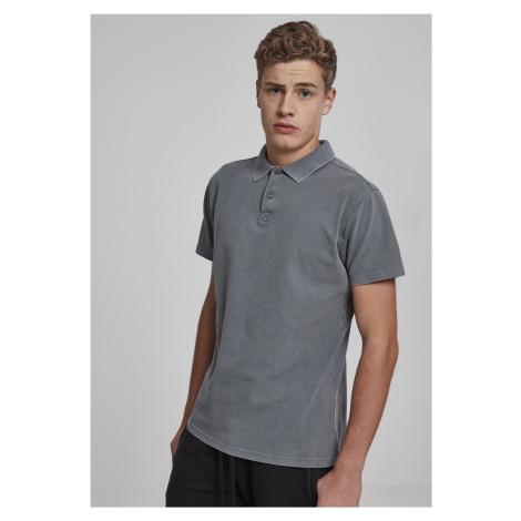 Pánska polokošeľa URBAN CLASSICS Garment Dye Pique Poloshirt grey