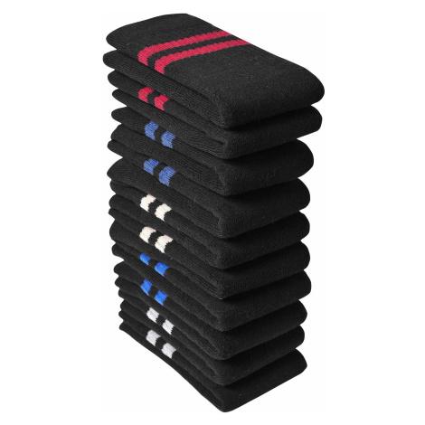 Blancheporte Farebné tenisové ponožky, súprava 10 párov čierna