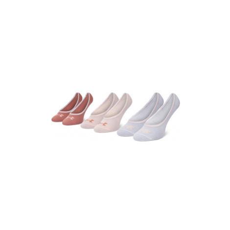 Under Armour Súprava 3 párov kotníkových ponožiek dámských Essential LOLO Liner 3 Pk 1361148-658