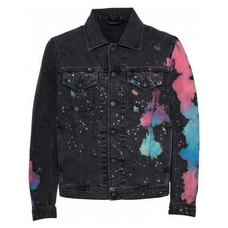 DIESEL Prechodná bunda  čierna / zmiešané farby / modrá / ružová
