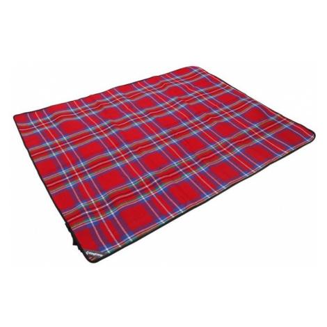 Piknik deka KING CAMP 175 x 135 cm - červená