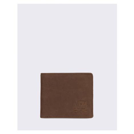 Herschel Supply Roy + Coin XL Leather RFID Nubuck Brown