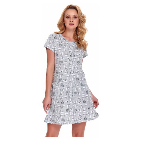 Sivá vzorovaná tehotenská nočná košeľa TCB9444