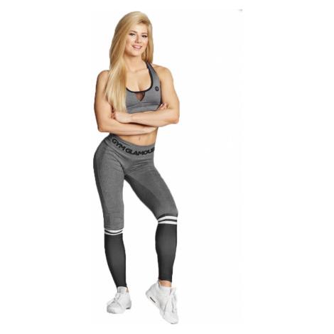 Gym Glamour Legíny sivé s čiernymi ponožkami