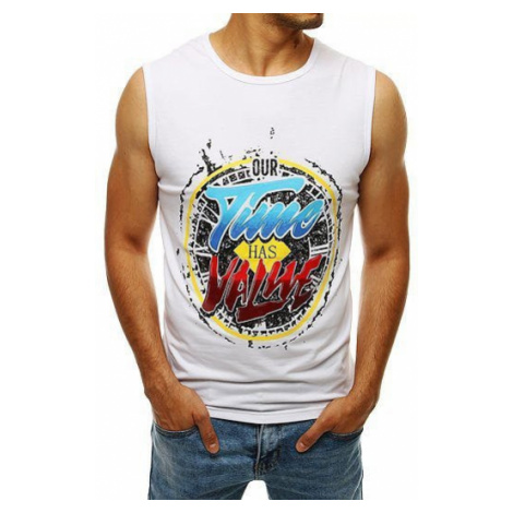 White RX4273 men's tank top DStreet