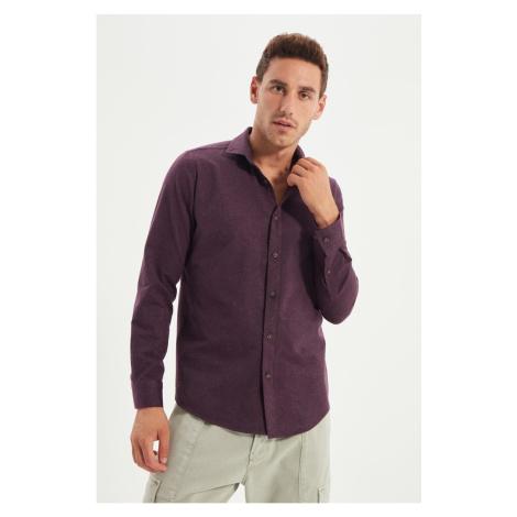 Trendyol Plum Men Regular Fit Shirt Collar Shirt