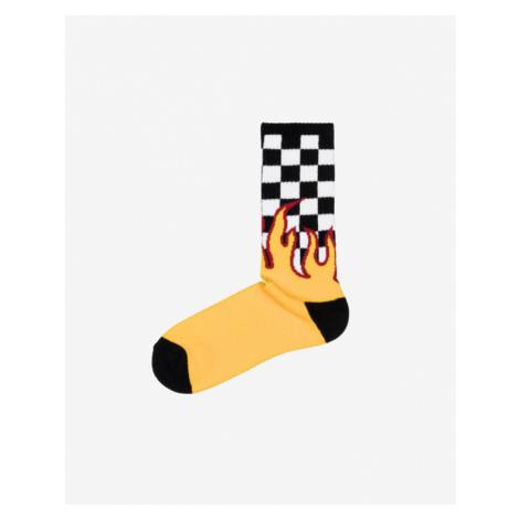 Vans Flame Check Ponožky Čierna Žltá