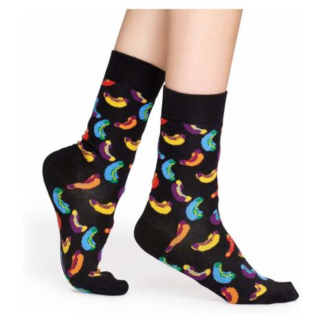 Farebné vzorované ponožky Hotdog – 41 - 46 Happy Socks
