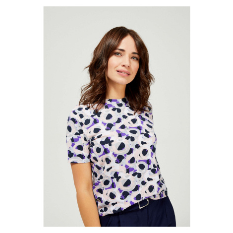 Moodo pastelové tričko so vzormi