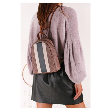 Hnedo-biely vzorovaný ruksak 30715 Tamaris