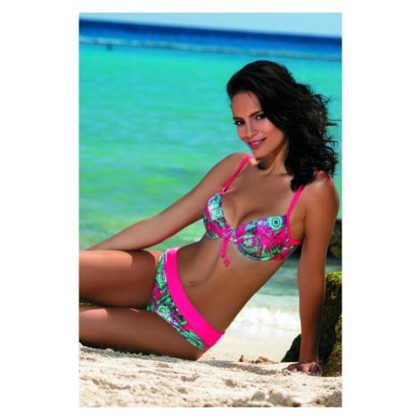 Dvoudílné plavky Feba F01B - barva:FEB450/ružová / potlač