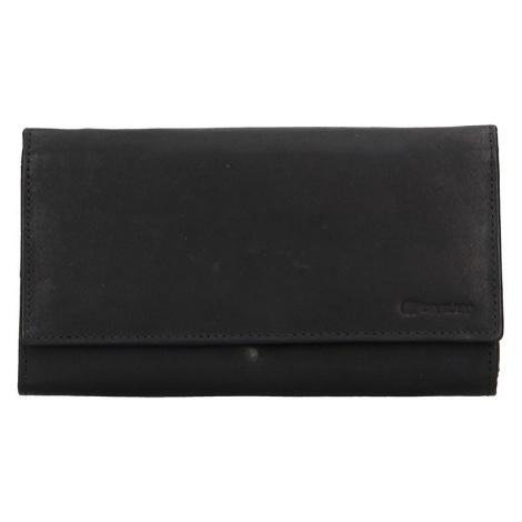 Dámska kožená peňaženka Diviley Emma - čierna
