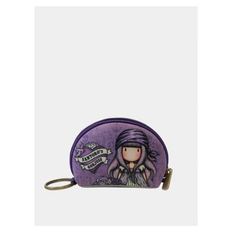 Fialová vzorovaná malá peňaženka Santoro Santoro London