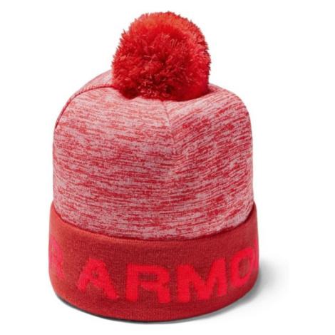 Under Armour GAMETIME POM BEANIE červená - Chlapčenská čiapka