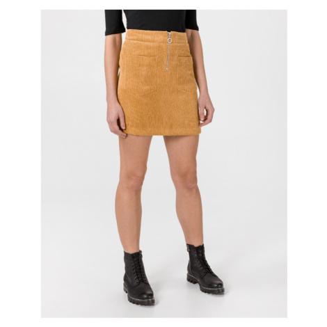 Vero Moda Cordatine Sukňa Žltá Oranžová