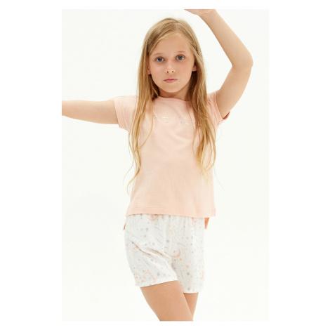 Dievčenské pyžamo Moon lososová Blackspade