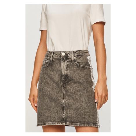 Calvin Klein Jeans - Rifľová sukňa