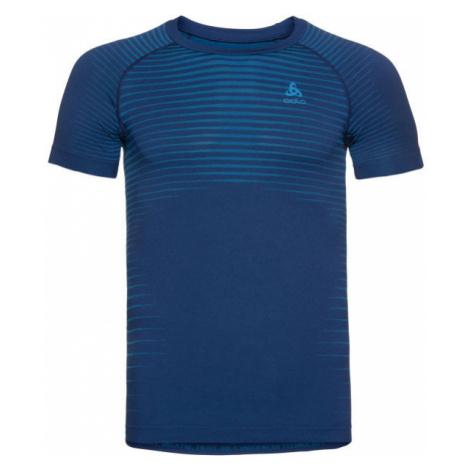 Odlo BL TOP CREW NECK S/S PERFORMANCE LIGHT modrá - Pánske funkčné tričko