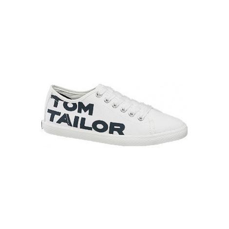 Biele plátenné tenisky Tom Tailor