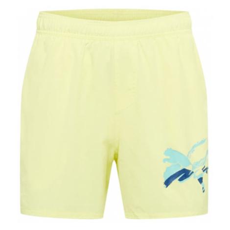 PUMA Športové nohavice  žltá / svetlomodrá / modrá