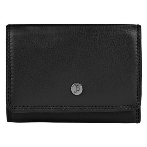 JustBag Dámska kožená peňaženka Black