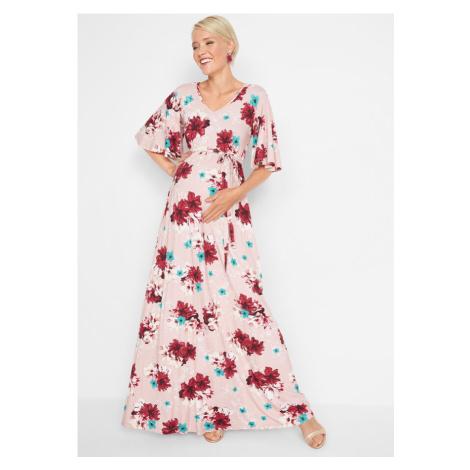 Tehotenské maxi úpletové šaty