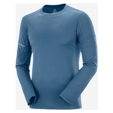 Pánske tričko Salomon Agile LS Tee tmavo modré
